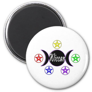 Wiccan 1 2 inch round magnet
