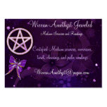 Wiccan Amethyst Jeweled Butterfly Art Business Card Template