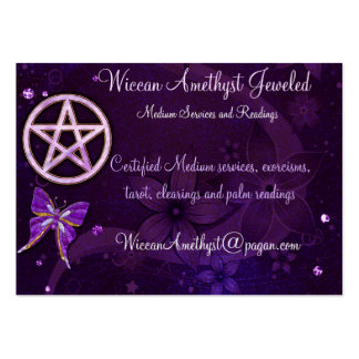 Wiccan Amethyst Jeweled Butterfly Art Large Business Card