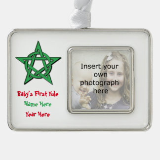 Wiccan Baby's First Yule Keepsake Ornament