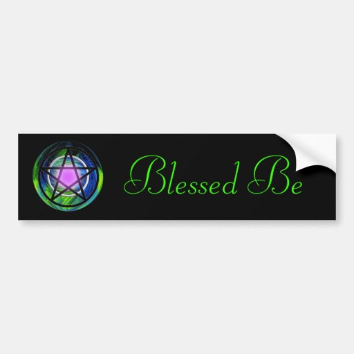 Wiccan, Blessed Be Bumper Sticker
