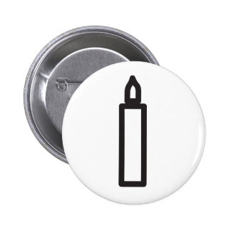 Wiccan candle symbol pinback button