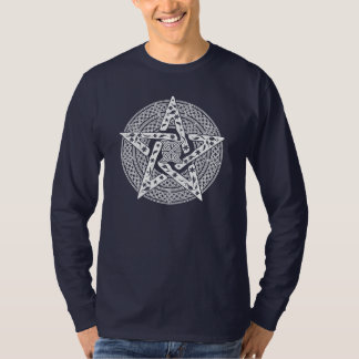 Wiccan Celtic Pentagram Long Sleeve T-Shirt