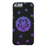 Wiccan Celtic Pentagram with Flowers and Stars Barely There iPhone 6 Case