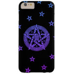 Wiccan Celtic Pentagram with Flowers and Stars Barely There iPhone 6 Plus Case