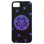 Wiccan Celtic Pentagram with Flowers and Stars iPhone SE/5/5s Case