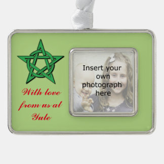 Wiccan Green Pentacle Yule Gift Ornament