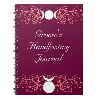 Wiccan Groom's Journal Horned God & Triple Goddess