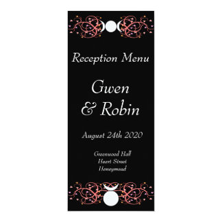 Wiccan Handfasting Reception Menu God Amp Goddess Card