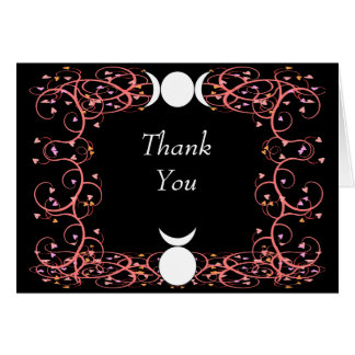 Wiccan Handfasting Thank You Card God & Goddess