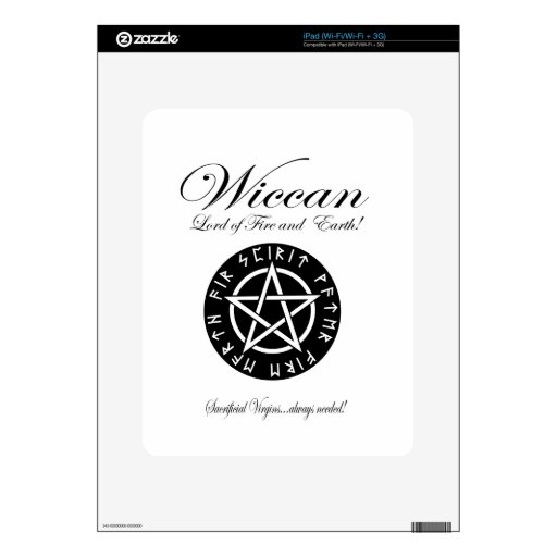 Wiccan Lord of Fire and Earth! iPad Skins
