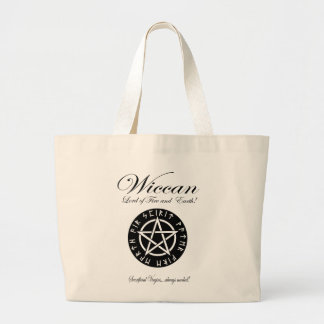 Wiccan Lord of Fire and Earth! Large Tote Bag