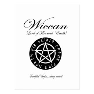 Wiccan Lord of Fire and Earth! Postcard