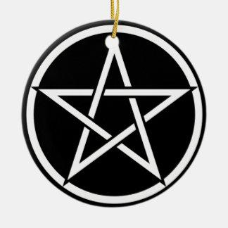 Wiccan & Magick Pentagram Pentacle - M1 Ceramic Ornament