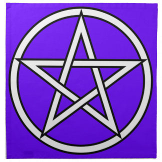 Wiccan & Magick Pentagram Pentacle - M1 Cloth Napkin