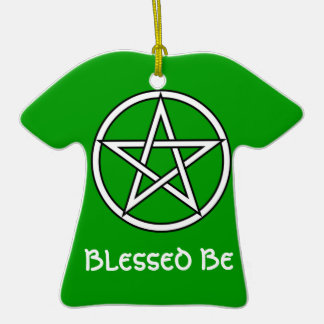 Wiccan & Magick Pentagram Pentacle - M1 Double-Sided T-Shirt Ceramic Christmas Ornament