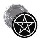 Wiccan & Magick Pentagram Pentacle - M1 Pin Redondo De 1 Pulgada