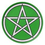 Wiccan & Magick Pentagram Pentacle - M1 Platos De Comidas