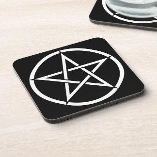 Wiccan & Magick Pentagram Pentacle - M1 Posavasos De Bebidas