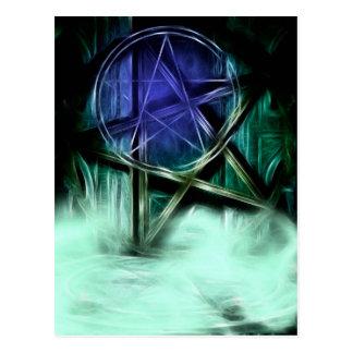 Wiccan Mist Fractal Manipulation Post Cards