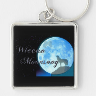 Wiccan Moonsong Square Keychain