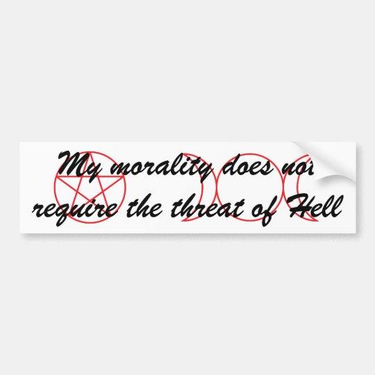 Wiccan Morality Bumper Sticker Zazzle Com