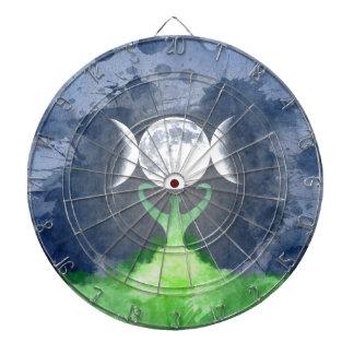 Wiccan Mother Earth Goddess Moon Dart Board