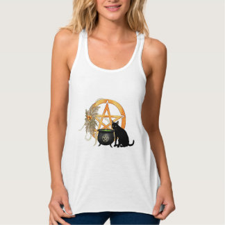 Wiccan Pagan Cat Tee