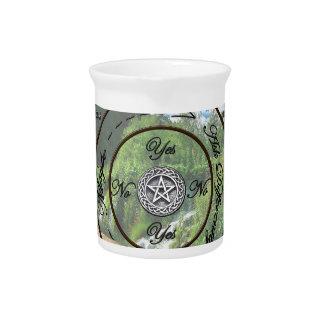 Wiccan Pagan Pendulum Chart Beverage Pitcher