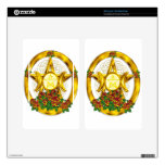 Wiccan Pagan Pentacle Gold With Roses Decals For Kindle Fire