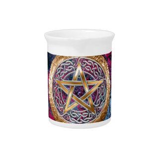 Wiccan Pagan Pentagram Alter Cloth Beverage Pitchers
