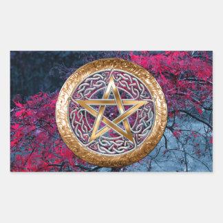 Wiccan Pagan Pentagram Alter Cloth Rectangular Sticker