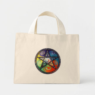 Wiccan Pentacle- Elements Mini Tote Bag