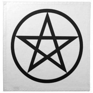Wiccan (Pentacle) Symbol Napkin