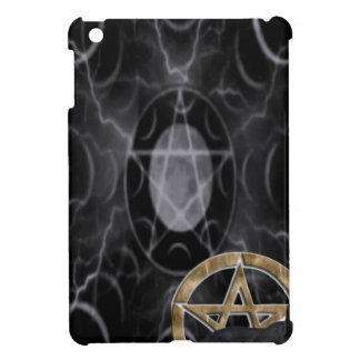 Wiccan pentacle with black cat iPad mini cover
