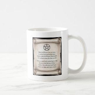 wiccan rede coffee mug