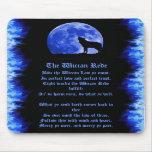 Wiccan Rede - llama azul Alfombrillas De Ratones