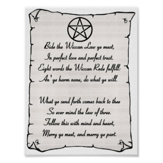 Wiccan Rede Poster