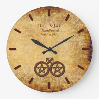 Wiccan Rustic Clock for Gay Wiccan Grooms
