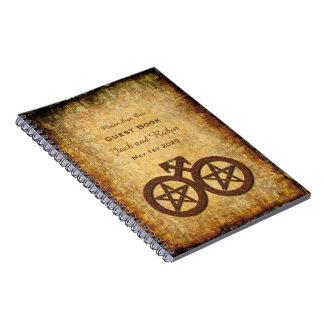 Wiccan Rustic Guest Book Gay Grooms Handfasting Note Book