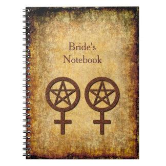 Wiccan Rustic Lesbian Handfasting Bride's Notebook