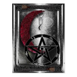 Wiccan Silver Crescent Moon New Age Post Card