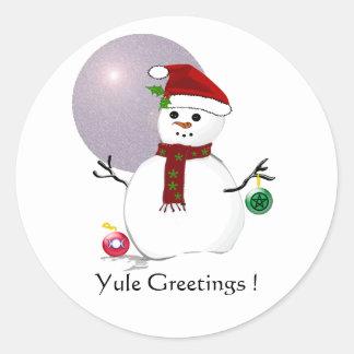Wiccan Snow Man - Sticker