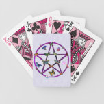Wiccan Star and Butterflies Bicycle Playing Cards