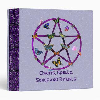 Wiccan Star and Butterflies Vinyl Binders