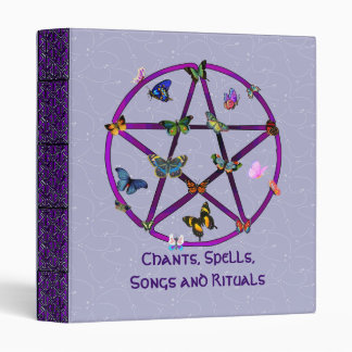 Wiccan Star and Butterflies Binder