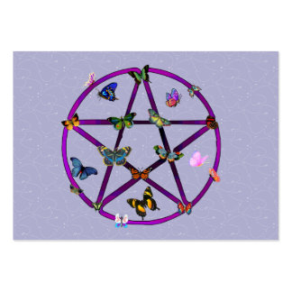 Wiccan Star and Butterflies Business Card Template