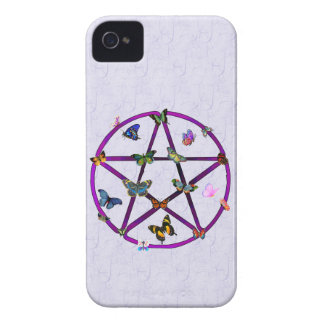 Wiccan Star and Butterflies Case-Mate iPhone 4 Case