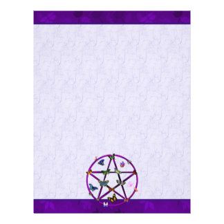 Wiccan Star and Butterflies Letterhead
