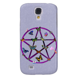 Wiccan Star and Butterflies Samsung S4 Case
